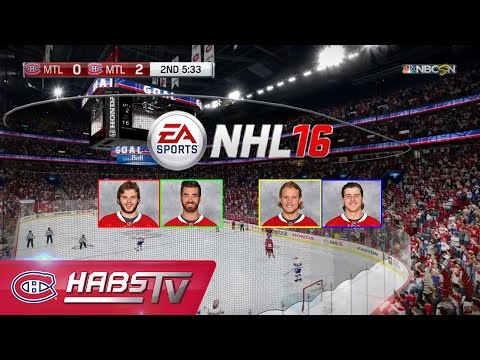 Montreal Canadiens play NHL 16 | FULL GAME (Gameplay only)