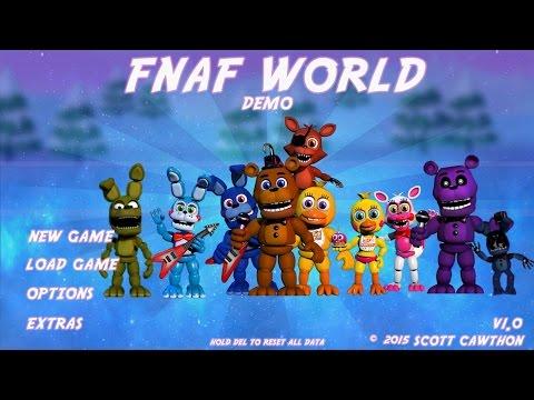 Five Nights at Freddy's World (FNAF WORLD) Gameplay Demo Teaser Trailer Fan Made