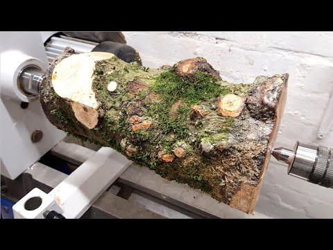 Woodturning - Apple Log To Vase