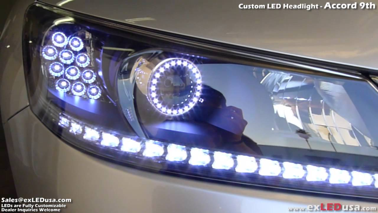 Exledusa Custom Led Headlight Honda Accord 9th Youtube