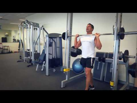 Smith Machine Overhead Press (Exercises.com.au)