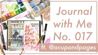 Journal with Me No. 017 with ACUPANDPAGES | Traveler's Notebook