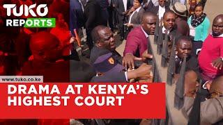 Drama at Kenya's highest Court | Tuko TV