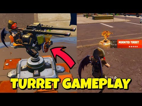 NEW MOUNTED TURRET + FOOD FIGHT LTM GAMEPLAY IN FORTNITE