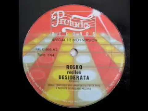 Rosko Recites Desiderata