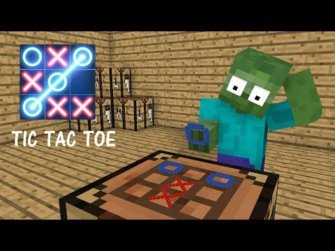 Monster School : TIC TAC TOE CHALLENGE - Minecraft Animation