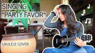 Cover of &quotParty Favor&quot with Ukulele By Cristina Diaz