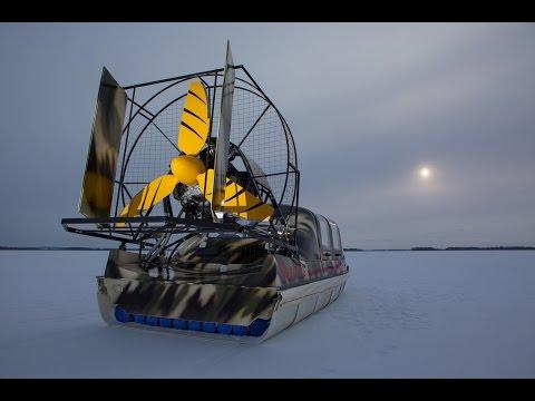 Аэросани вид сзади на льду фото