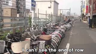 Many many bicycles in Japan