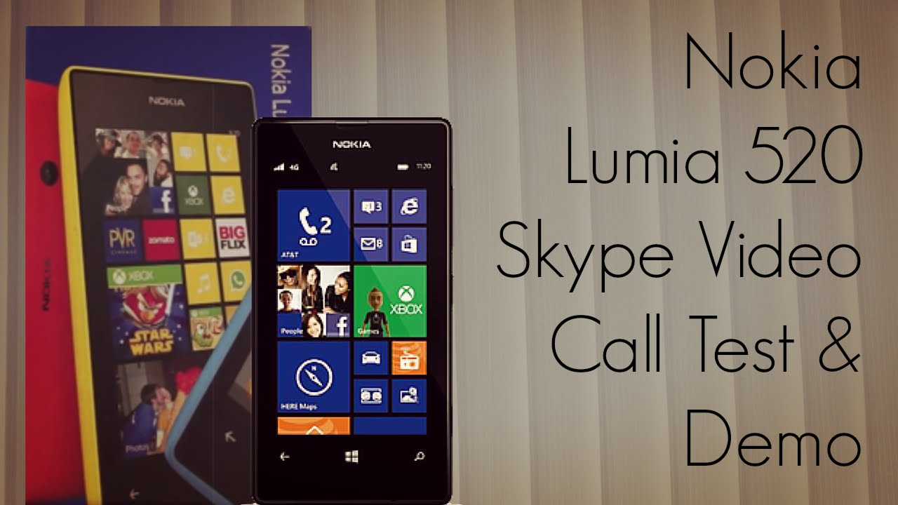 Nokia lumia 520 skype video call test demo youtube ccuart Image collections