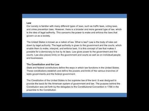 The Ogburn School   American Government Lesson 03