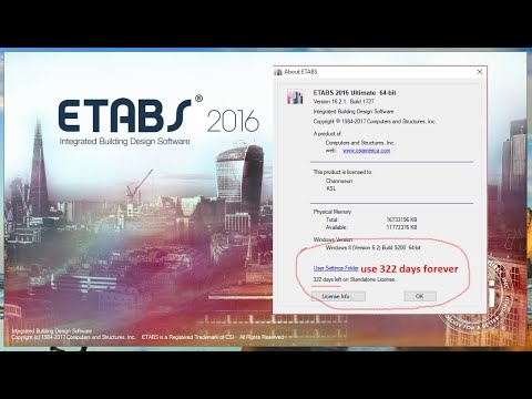 How to Install and crack ETABS 2016 V16 2 1 use 322days or forever by sun  channoeun