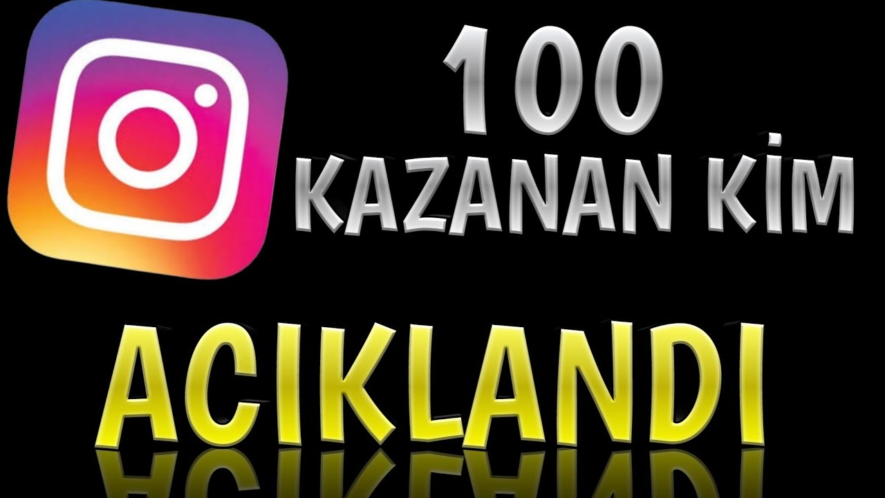 100 TAKİPCİYİ KİM KAZANDI??#instagram#takipci