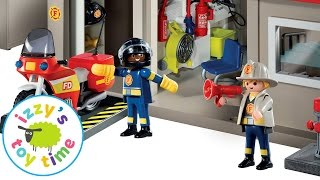 Playmobil KidKraft Fire Station Playset with Hot Wheels and Fire Trucks | Toy Cars for Kids