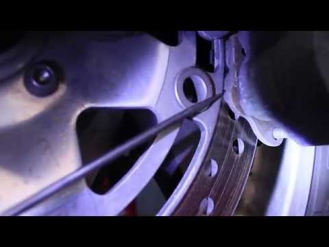 How to check your motorcycle brake pads