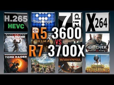 Ryzen 5 3600 Vs Ryzen 7 3700X  Benchmarks | Test Review | Comparison | Gaming | 13 Tests