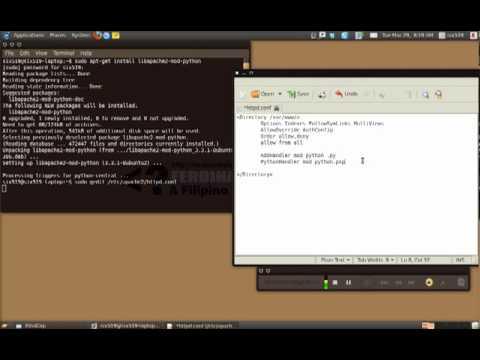 Apache and mod python PSP Handler www bajaryoutube com