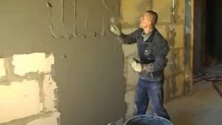 Моя техника нанесения раствора на стенку