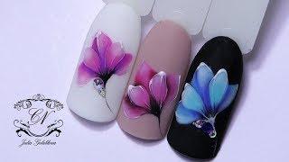 Рисуем ОЧЕНЬ НЕЖНЫЙ цветок/Дизайн ногтей гель лаками MyLaq