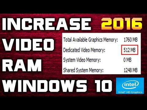 How to Increase Dedicated Video RAM (VRAM) in Windows 10