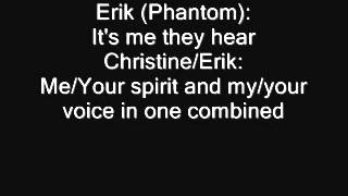 Gerard Butler +Emmy Rossum~ The Phantom of the Opera~ Lyrics
