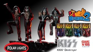Monster Model Review #156 The Polar Lights pre-painted KISS figures by Round 2