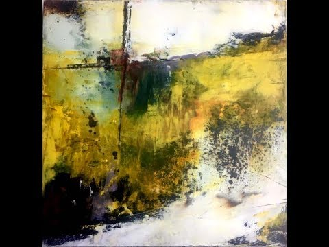Abstract Art-Studio Play with Cold Wax and Oil Paint