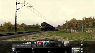Railworks Train Simulator 2012 - Class 390 Intercity Swallow High Speed Run and Emergency Brakes