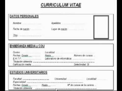 Curriculum Vitae Como Hacer Un Curriculum Vitae Sencillo