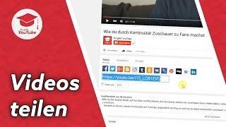 YouTube Video teilen: So geht