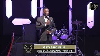 OvyGodwin on stage at Alibaba Jan 1st concert