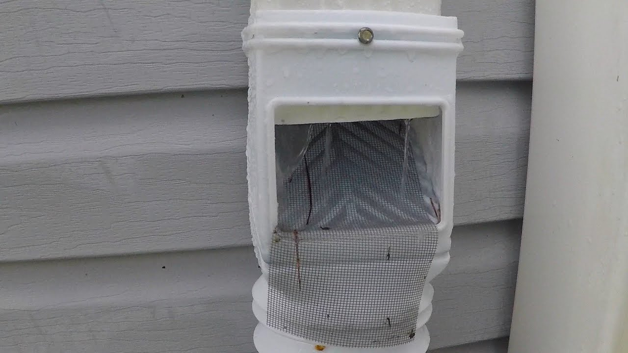 Gutter Down Spout Filter In Action Youtube