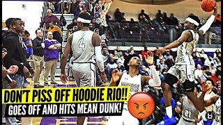 DON'T PISS OFF HOODIE RIO!! RESPONDS TO TRASH TALKER AND HITS THE MEANEST DUNK!!
