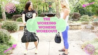 "The ""Purse-Pick me up"" - Working women workout series! Feat. Steph Hendel! + GIVEAWAY!!! Thumbnail"