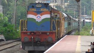 7 Morning Trains at Kasarwadi |Ft.Deccan Queen,Push-Pull Intercity,Humsafar,Chennai Express...!!