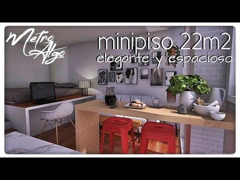minipiso 22m2 / 237ft2 (elegante y espacioso)