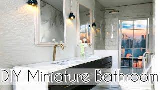 DIY miniature BATHROOM for BARBIE DOLLS
