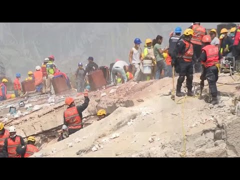 Dramatic rescues in Mexico after earthquake