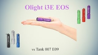 фонарик Olight i3E EOS (недорогой, но отличный наключник на 90 Люмен. vs Tank 007 E09)