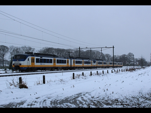 Dutch Train Ride .. Rotterdam to The Hague .. Sprinter (Passenger View) Winter and Snow