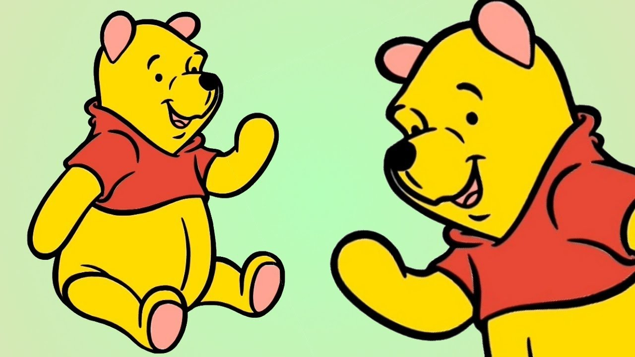 Drawing WINNIE THE POOH And Coloring ! Coloring Pages Videos For ...
