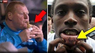 أغبى 15 شيئا قام به لاعبوا كرة القدم | نجم السيتي وضع سيجارة في عين زميله!!