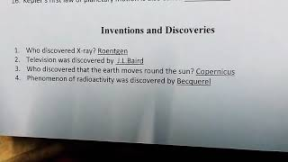 Tnpsc physics inventions and discoveries