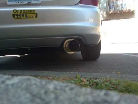 apexi N1 exhaust with 02 civic si ep3