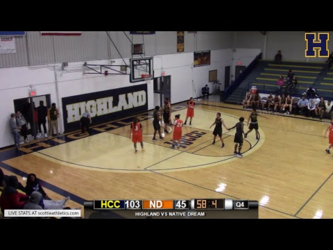 Highland Women's Basketball vs. Native Dream