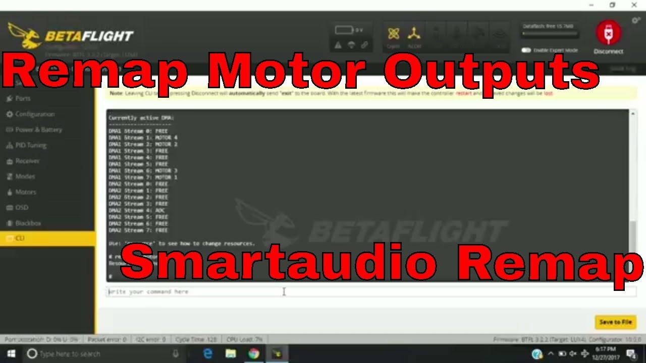 Lumenier Alpha AIO Remap Motor Outputs & Smartaudio