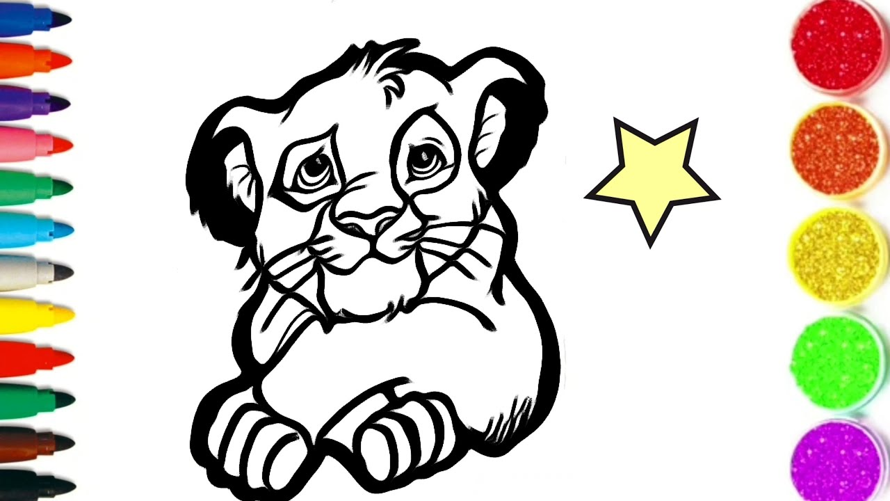 Comment Dessiner Et Colorier Simba Le Roi Lion Drawing Colors Kids Tt48 Youtube