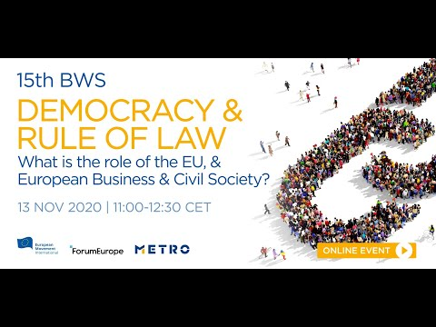 Brussels Wednesday Social | Democracy & Rule of Law - The EU, & European Business & Civil Society