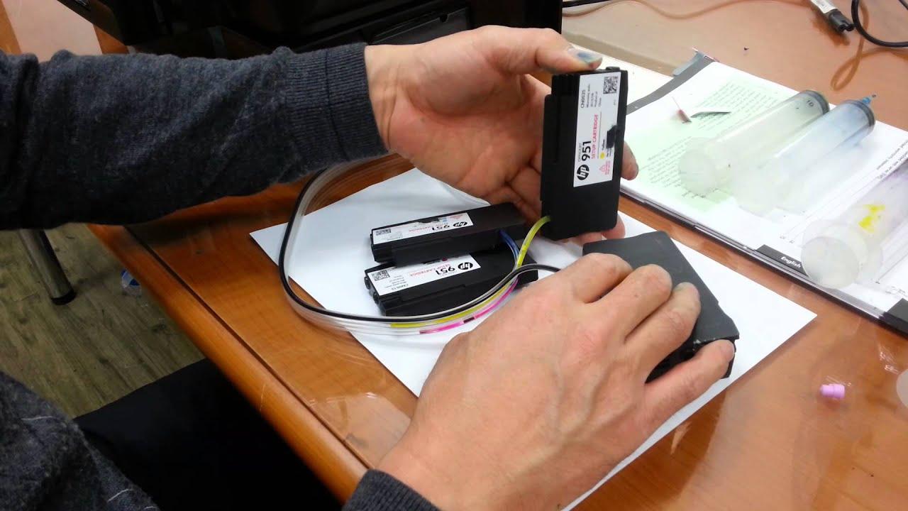 메카원의 방법 Hp 8600 새기계 공급기제작후 카트리지내 잉크보충방법 기초 Doovi