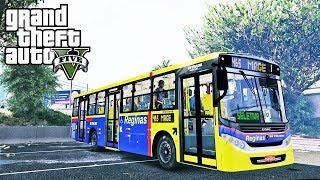Video GTA V - Vidal Real: Motorista de ônibus #2 / Ônibus da Empresa Reginas (Magé, Rio de janeiro) download MP3, 3GP, MP4, WEBM, AVI, FLV Oktober 2018